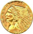 UNITED STATES Gold Coin 1926 2 1/2 INDIAN